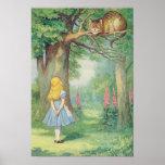 Alicia y el gato de Cheshire Poster