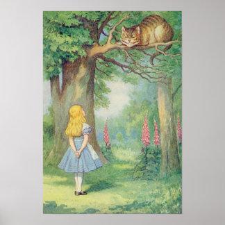 Alicia y el gato de Cheshire Póster