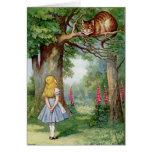 Alicia y el gato de Cheshire Tarjeton