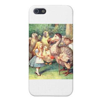 Alicia y el pájaro del Dodo en la raza del comité iPhone 5 Funda