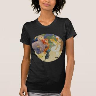 Alicia y el pájaro del Dodo en la raza del comité Camiseta
