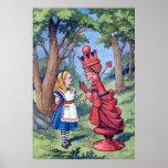 Alicia y el poster rojo de la reina