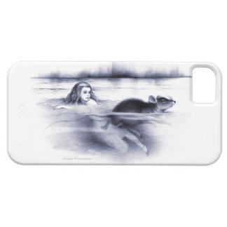 Alicia y el ratón de la puerta en la piscina de iPhone 5 carcasa
