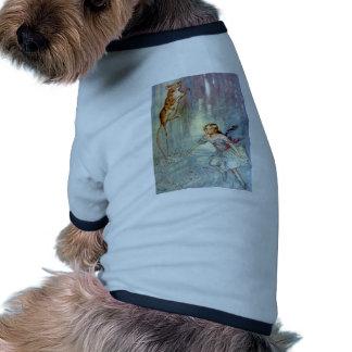 Alicia y el ratón Swimmimg en la piscina de rasgon Camiseta De Perro