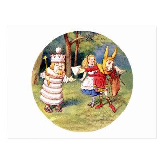 Alicia y el rey blanco tarjetas postales