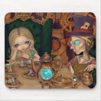 Alicia y el sombrerero enojado Mousepad Alfombrillas De Ratones