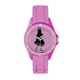 Alicia y flamenco rosado relojes de mano
