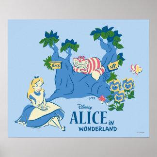 Alicia y gato de Cheshire Póster