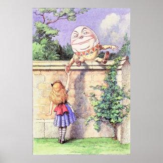 Alicia y Humpty Dumpty a todo color Póster
