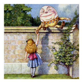 Alicia y Humpty Dumpty en el país de las maravilla Póster