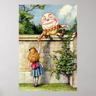 Alicia y Humpty Dumpty Póster