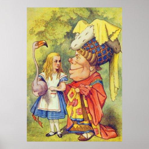Alicia y la duquesa a todo color póster