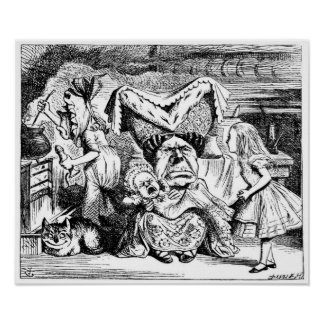 Alicia y la duquesa, el cocinero y el gato de Ches Posters