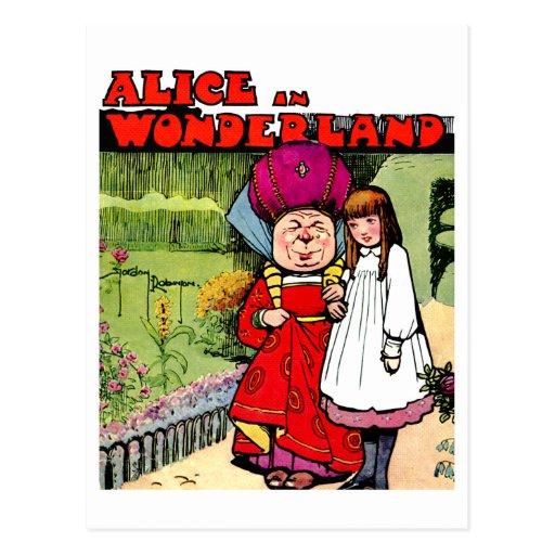 Alicia y la duquesa en el país de las maravillas tarjeta postal