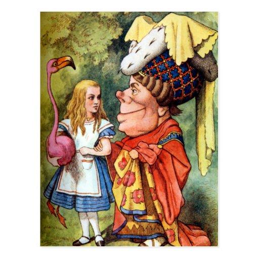 Alicia y la duquesa Play Flamingo Croquet Postales