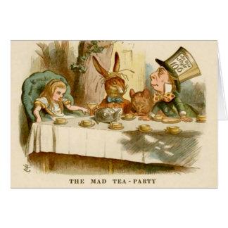 Alicia y la fiesta del té enojada - tarjeta de not