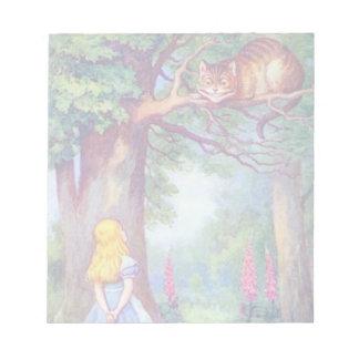 Alicia y la libreta del gato de Cheshire Blocs De Papel