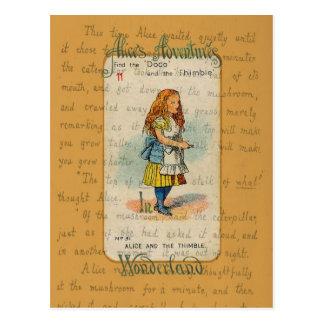 Alicia y la postal del dedal