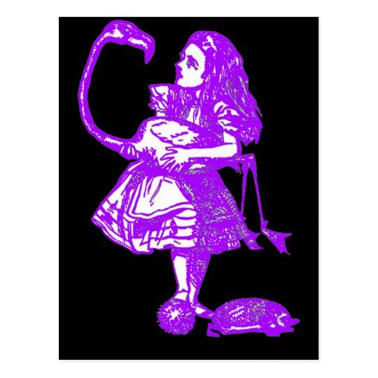 Alicia y la púrpura del flamenco postal