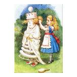 Alicia y la reina blanca en el país de las maravil impresión en lona