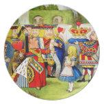 Alicia y la reina de corazones en el país de las m platos
