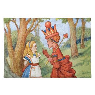 Alicia y la reina roja en el país de las maravilla mantel individual