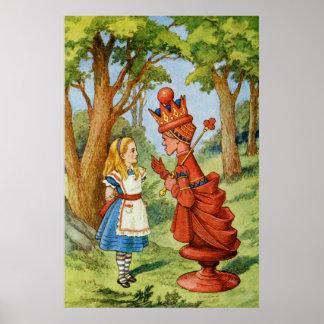 Alicia y la reina roja en el país de las maravilla póster