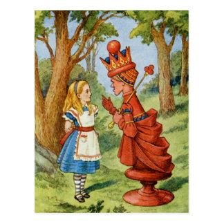 Alicia y la reina roja en el país de las postal