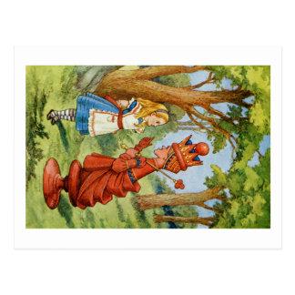 Alicia y la reina roja en el país de las tarjetas postales