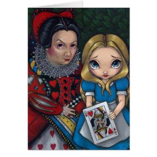"""""""Alicia y la reina tarjeta de felicitación de los"""