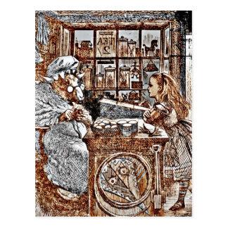 Alicia y las ovejas que hacen punto postales