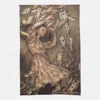Alicia y las tarjetas de Arturo Rackham Toalla