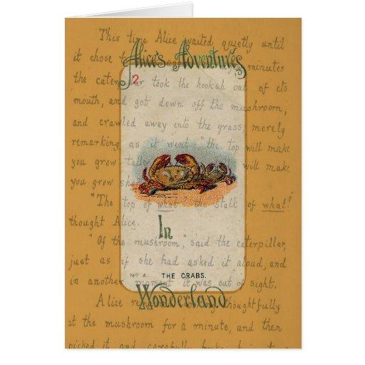 Alicia y los cangrejos tarjeta de felicitación