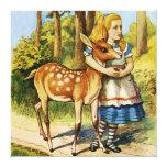 Alicia y los ciervos en el país de las maravillas lona envuelta para galerias