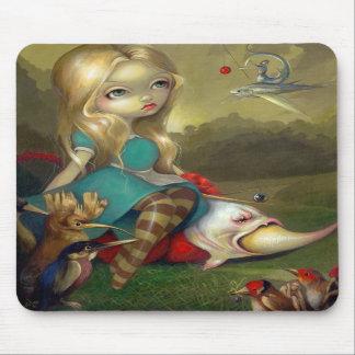 """""""Alicia y los pájaros"""" Mousepad de Bosch"""