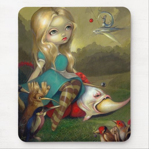 """""""Alicia y los pájaros"""" Mousepad de Bosch Tapete De Raton"""