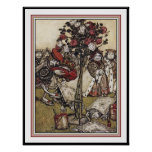 Alicia y país de las maravillas - Arturo Rackham Poster