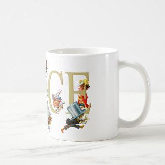 Alicia y país de las maravillas y amigos taza de café