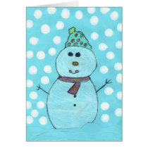 Alicia's Snowman Chrismas Card