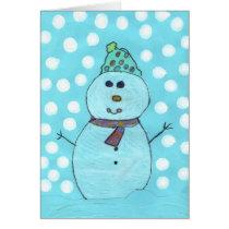 Alicia's Snowman Chrismas Card