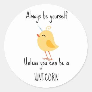 Alida the Unicorn Classic Round Sticker