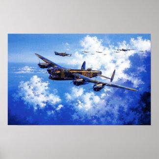 Alied Plane formation Vintage Image Poster