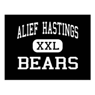 Alief Hastings - Bears - High - Houston Texas Postcard