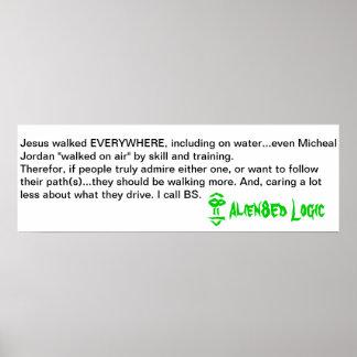 Alien8Ed on Jesus & Basketball Poster