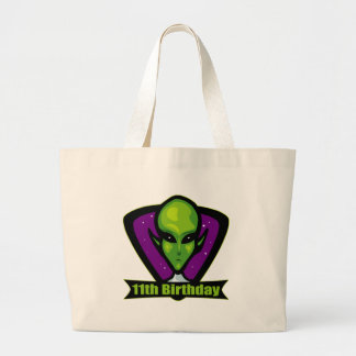 Alien 11th Birthday Gifts Tote Bag
