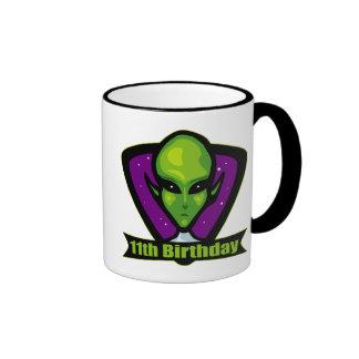 Alien 11th Birthday Gifts Mug