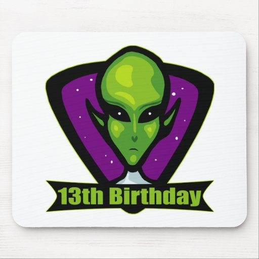 Alien 13th Birthday Gifts Mouse Pad