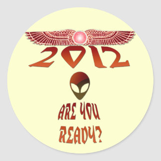 Alien 2012 Are You Ready? Classic Round Sticker