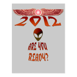 Alien 2012 Are You Ready? Postcard