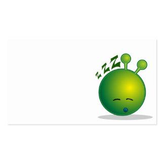 alien-294250  alien smiley green sleepy sleeping t Double-Sided standard business cards (Pack of 100)